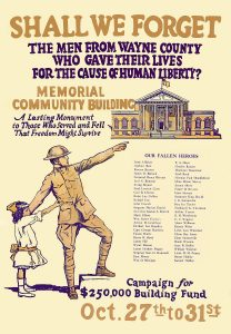 Goldsboro NC Wayne County Memorial Community Building campaign poster