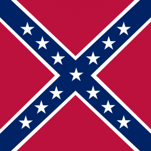 Confederate battle flag, square