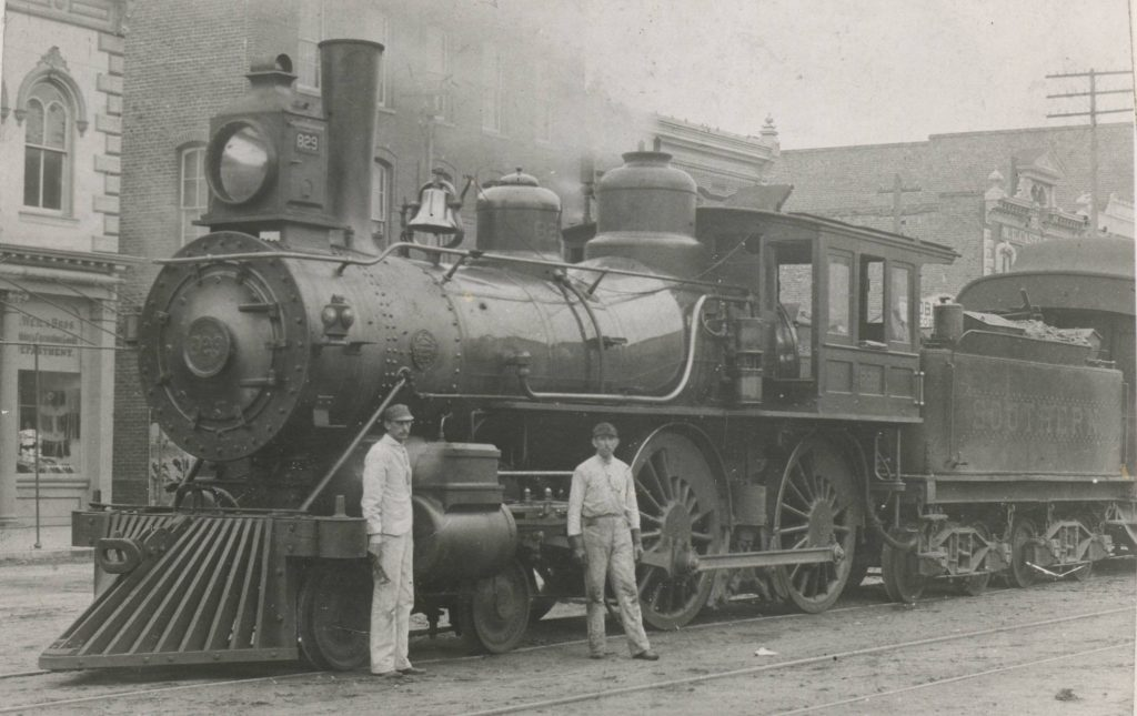 Southern Railway engine, downtown Goldsboro