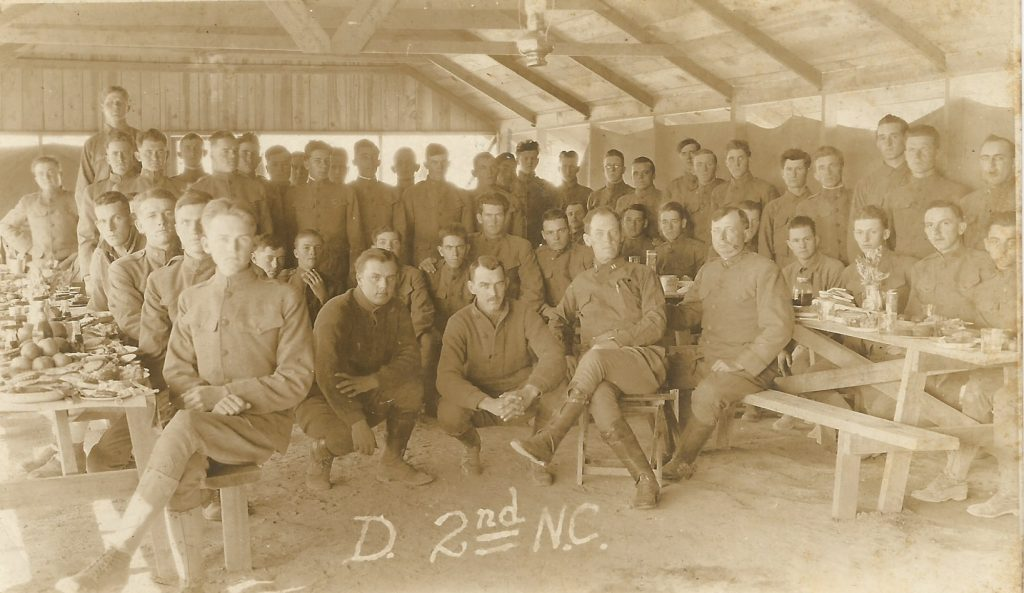 Photograph of D Company, 2nd NC Infantry, 1917