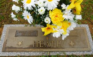 Deward Heath grave, Wayne Memorial cemetery
