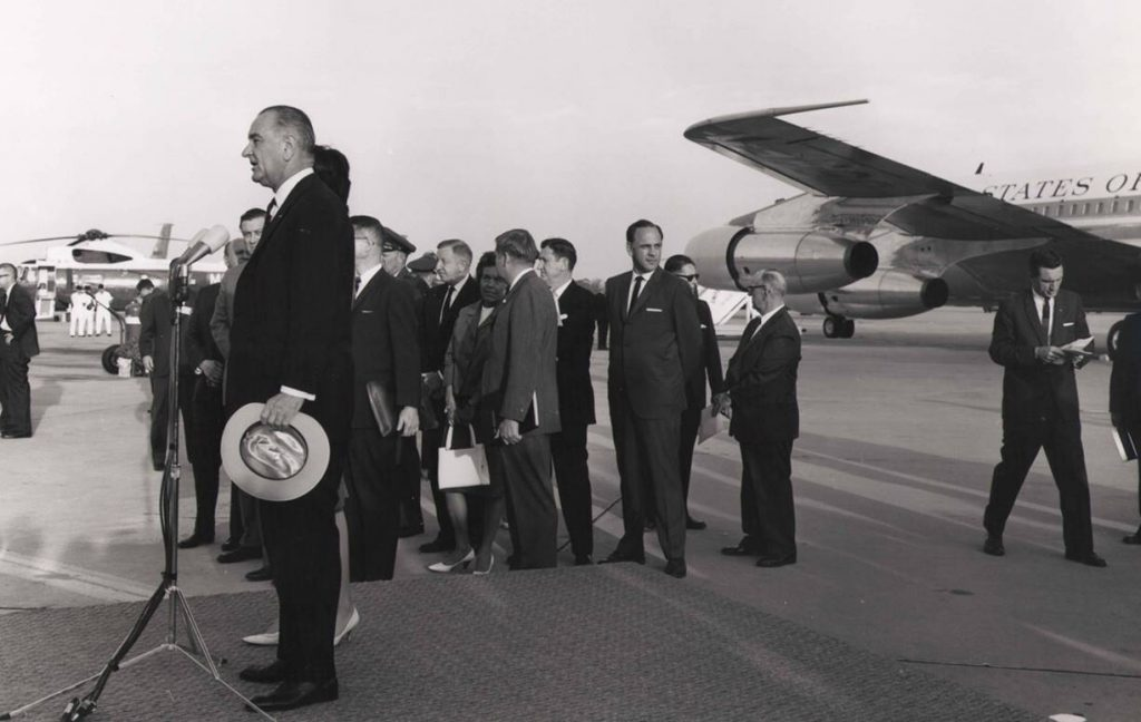 LBJ at Seymour Johnson AFB, May 7, 1964
