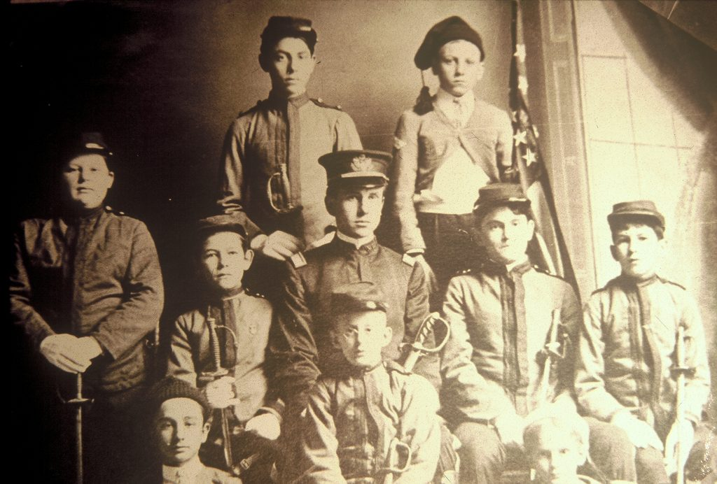 Boys Patrol, 1905. Kenneth C. Royall and Zeno Hollowell