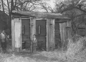 Jaycees housing survey 1950, community outhouses