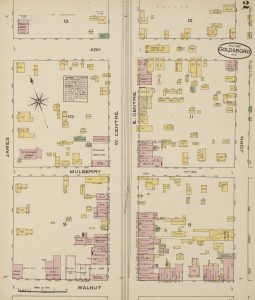 1885 Goldsboro Sanborn map
