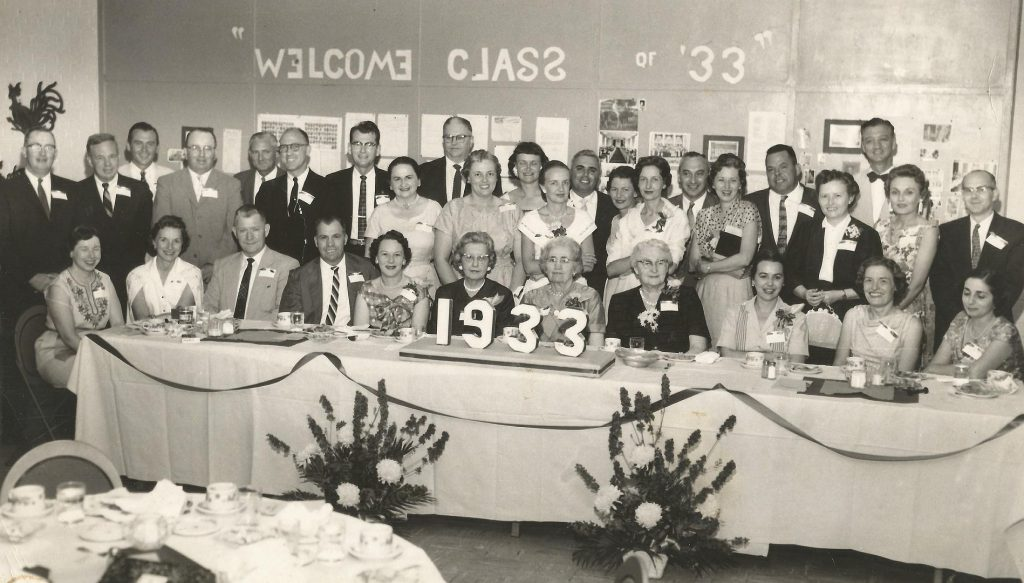 Goldsboro High School - class of '33 reunion - June 1958