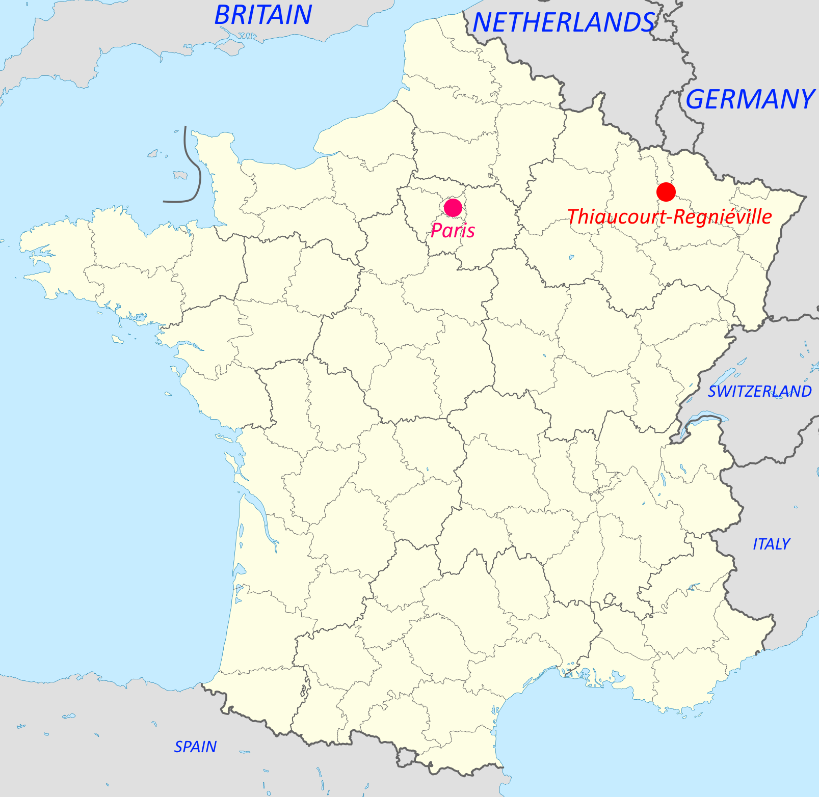 Thiacourt, France map