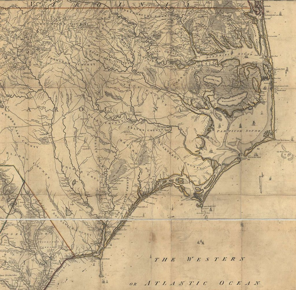 An Accurate Map of North and South Carolina With Their Indian Frontiers, map, 1775