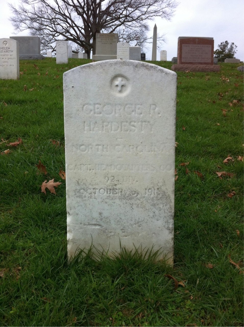 George Hardesty headstone Arlington
