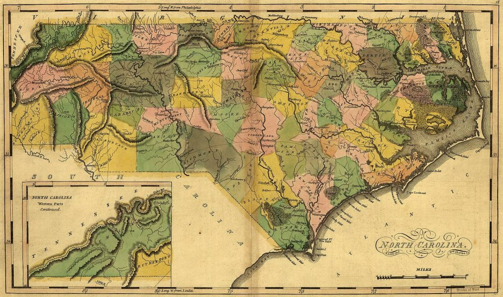 North Carolina, 1814, by Mathew Carey