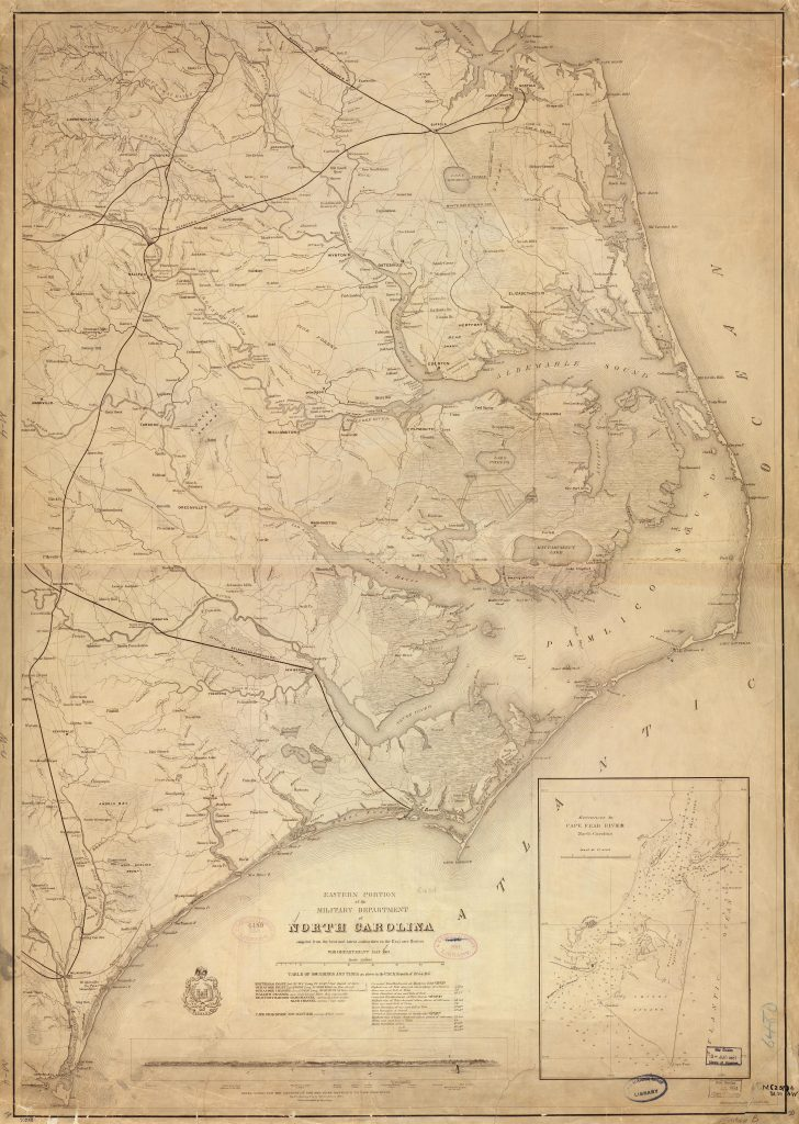 Eastern portion of the Military Department of North Carolina, 1862