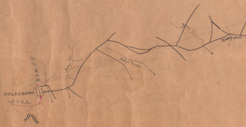 Wayne County section of Atlantic and NC Railroad geological survey, 1853