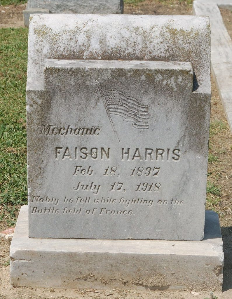 Faison Harris, Willow Dale Cemetery