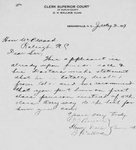 WJ Merritt Civil War pension letter