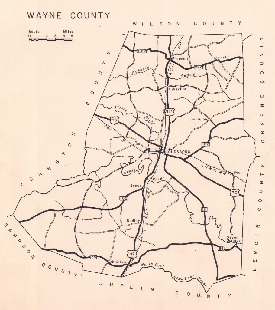 1940 Wayne County Federal Writers Project road map