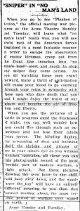 Goldsboro Daily Argus June 4, 1921, Flashes of Action article